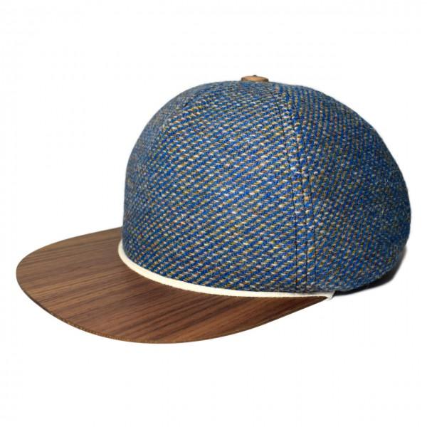 Tweed Cap blau-weiß-gold