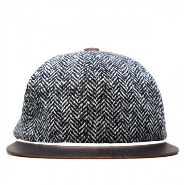 Tweed Cap schwarz-weiß