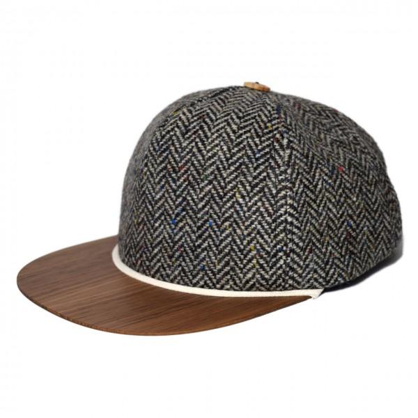 Tweed Cap grau-schwarz