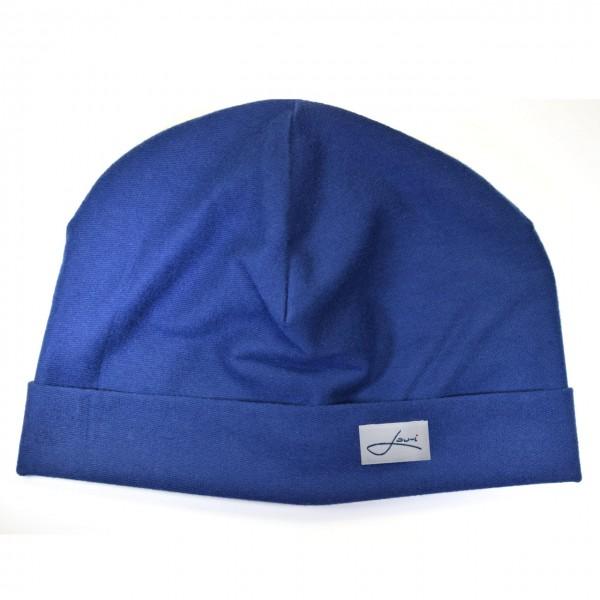 Baumwollmütze royalblau