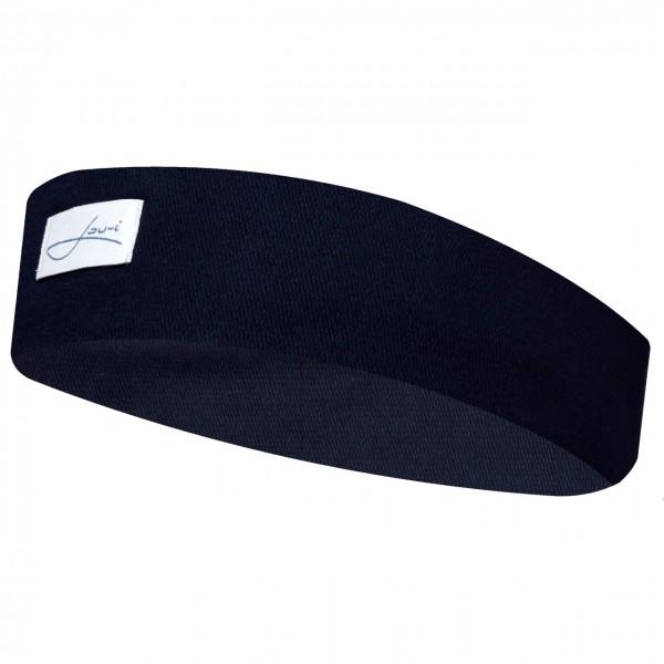 Stirnband blau Baumwolle