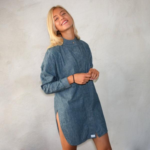 Kimonokleid blau