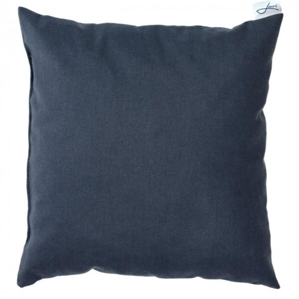 Zirbenkissen bio Baumwolle blau