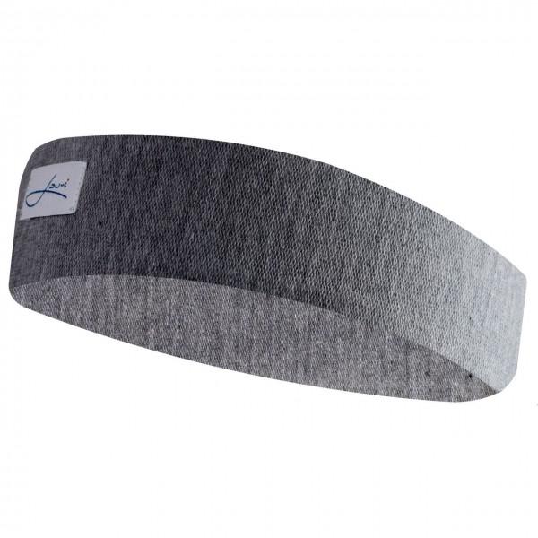 Stirnband grau Baumwolle