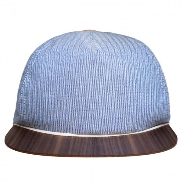 Baumwoll Cap blau-weiß