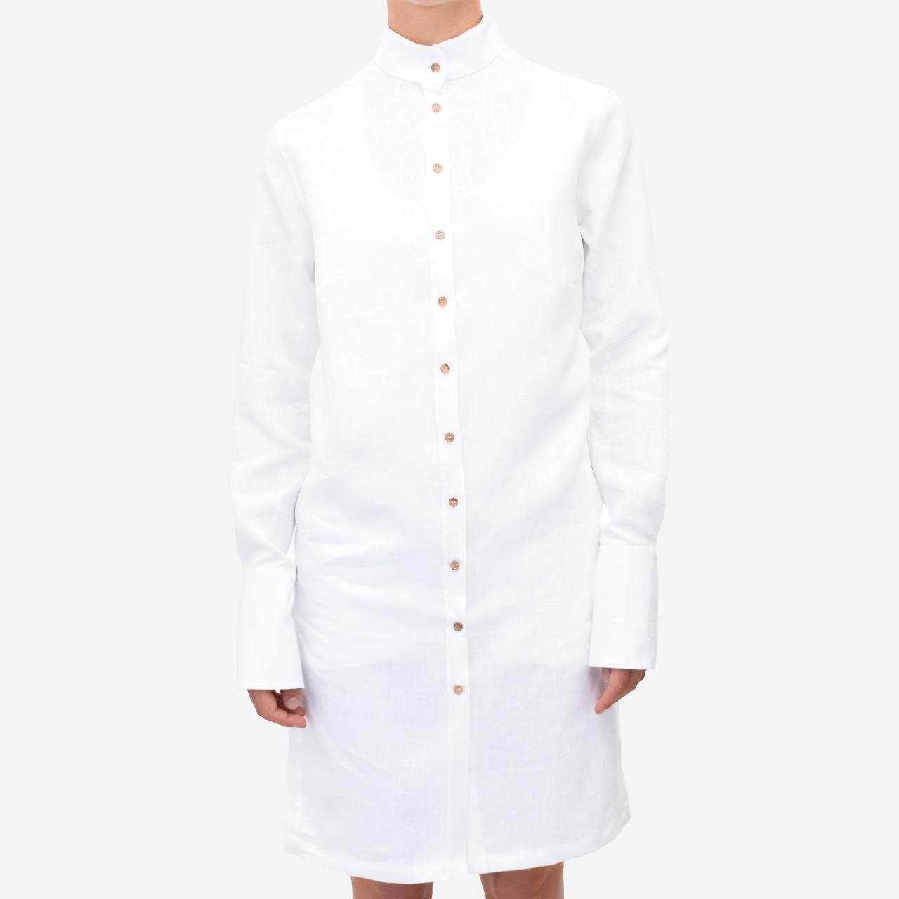 zum halben Preis 73b07 94f32 Leinenkleid weiß