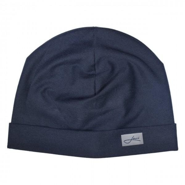 Baumwollmütze navy blau