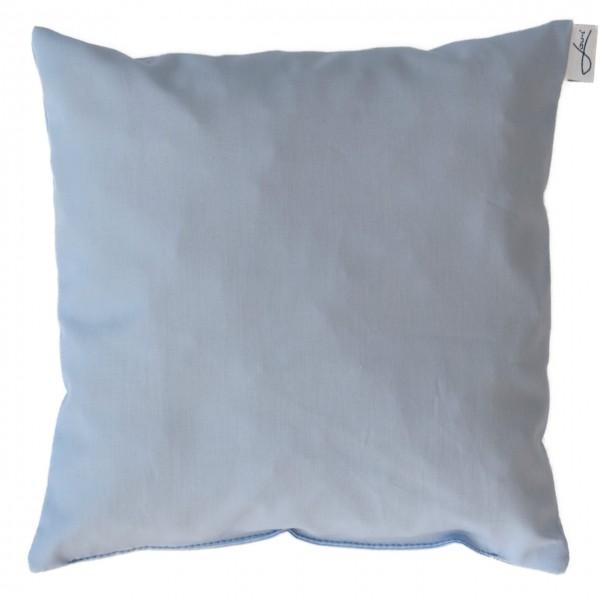 Zirbenkissen bio Baumwolle hellblau