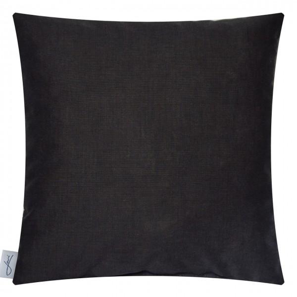 Zirbenkissen bio Baumwolle schwarz