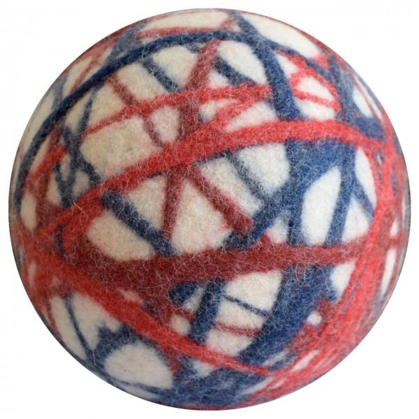 Filzball weiß-rot-blau