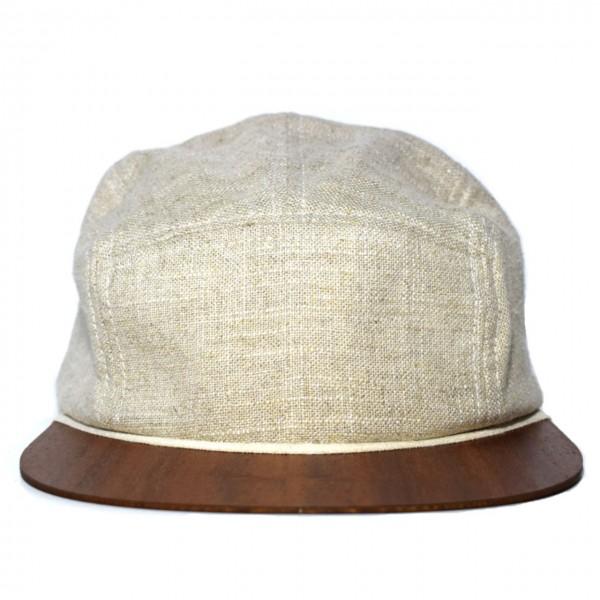 Leinen Cap beige