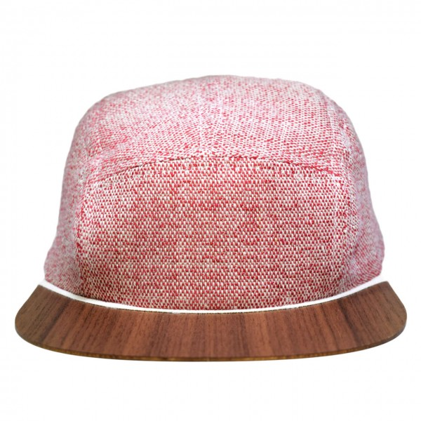 Leinen Cap rot-weiß