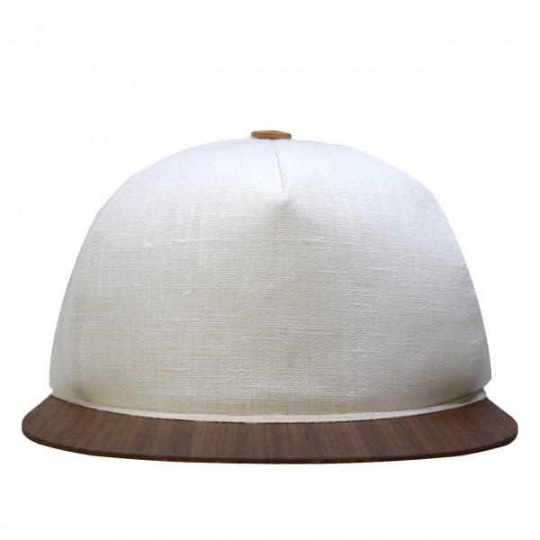 Leinen Cap weiß