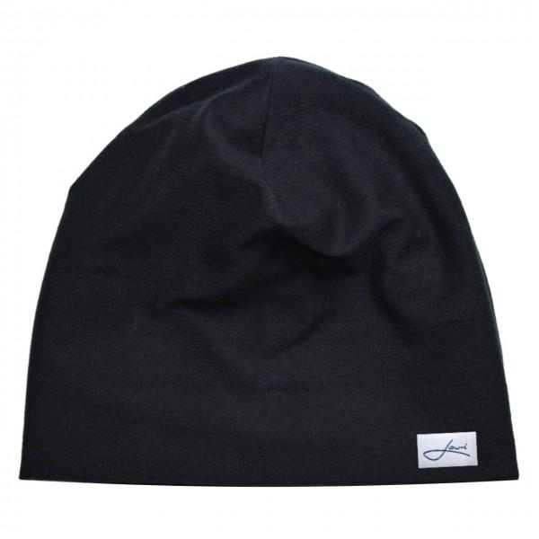 Baumwollmütze schwarz