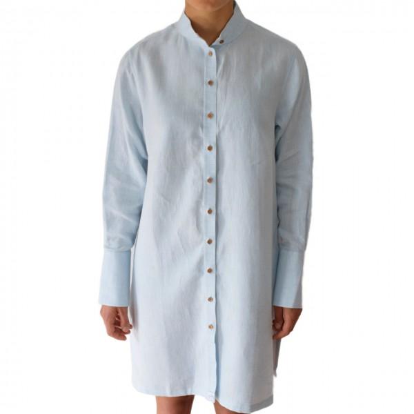 Kleid hellblau aus Bio Leinen